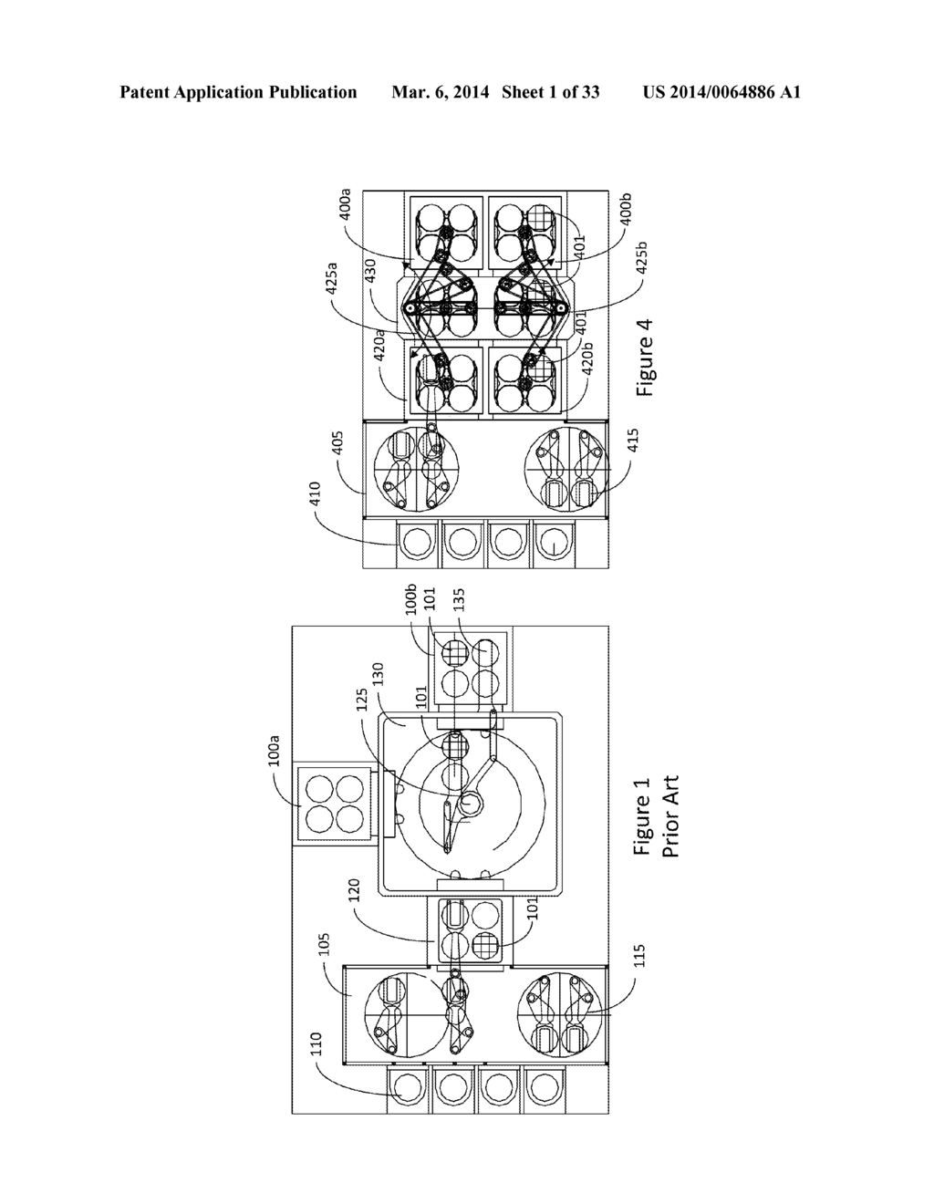 SYSTEM, ARCHITECTURE AND METHOD FOR SIMULTANEOUS TRANSFER AND PROCESS OF     SUBSTRATES - diagram, schematic, and image 02