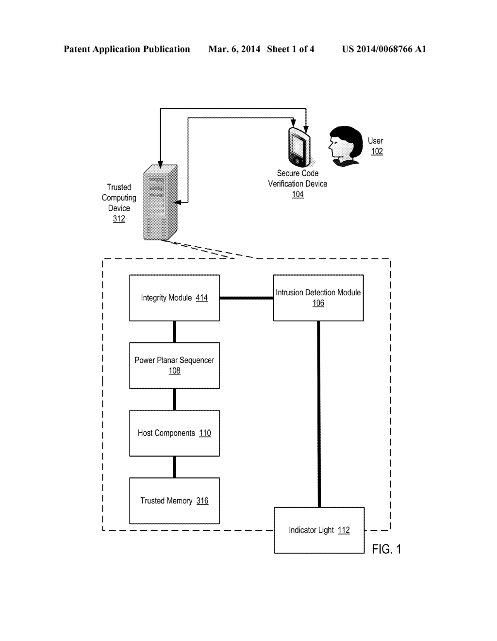 Secure Code Verification Enforcement In A Trusted Computing Device - diagram, schematic, and image 02