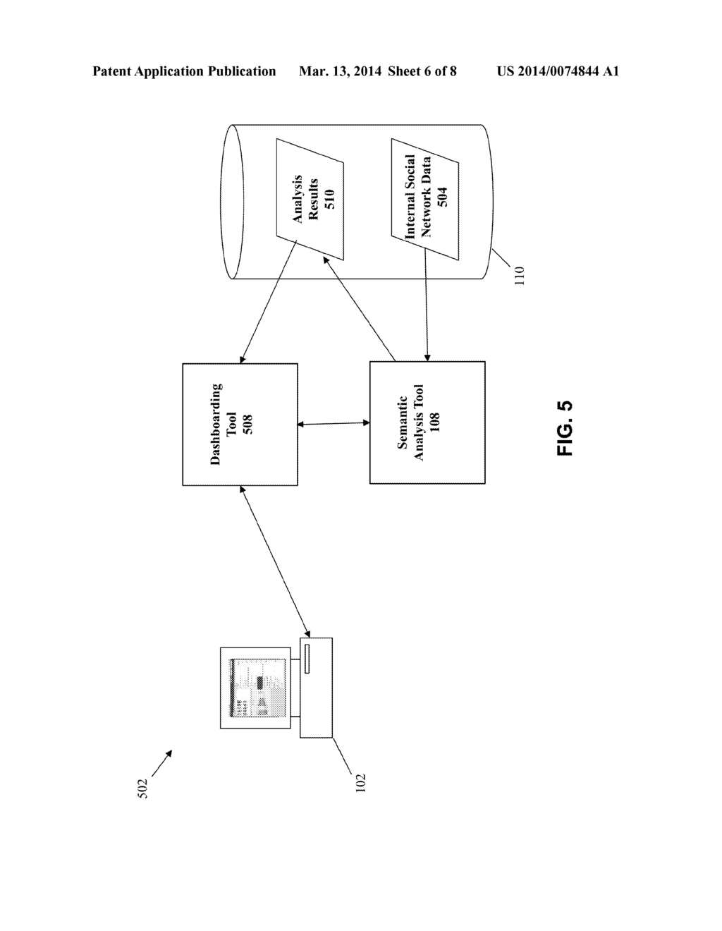METHOD AND SYSTEM FOR IMPLEMENTING SEMANTIC ANALYSIS OF INTERNAL SOCIAL     NETWORK CONTENT - diagram, schematic, and image 07