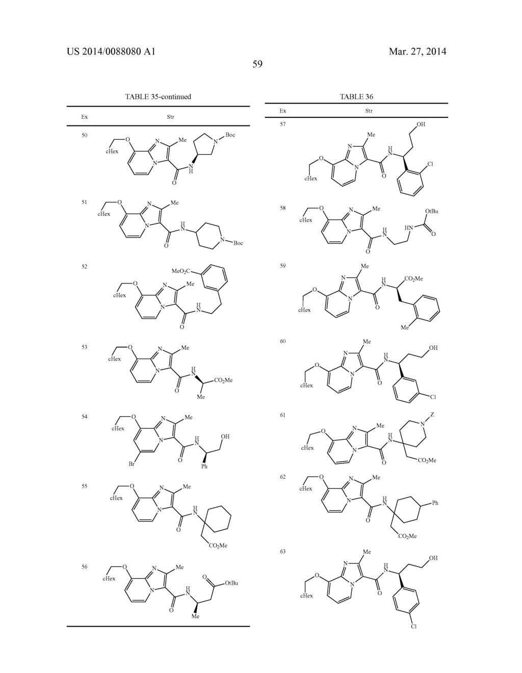 IMIDAZOPYRIDINE COMPOUNDS - diagram, schematic, and image 60