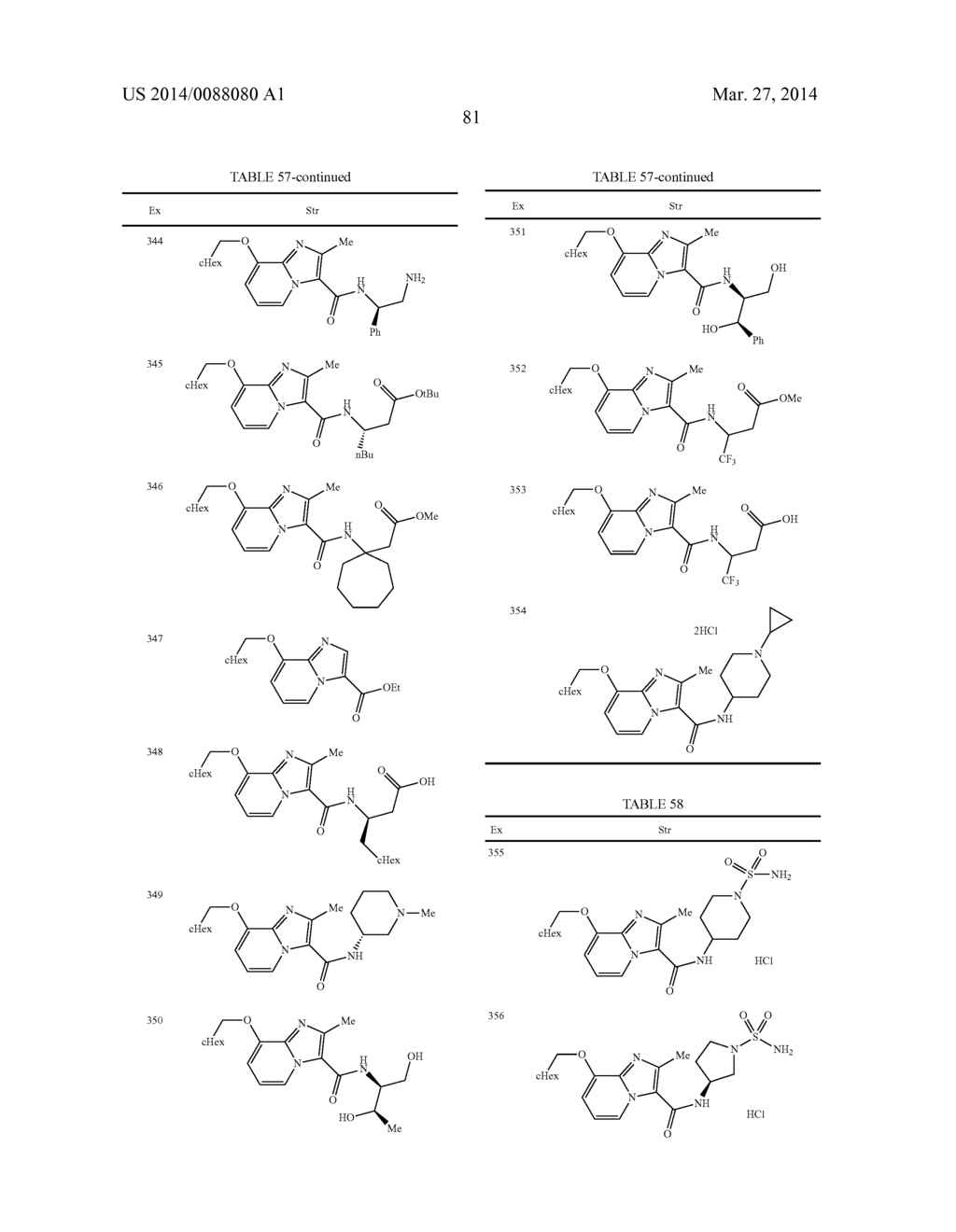 IMIDAZOPYRIDINE COMPOUNDS - diagram, schematic, and image 82