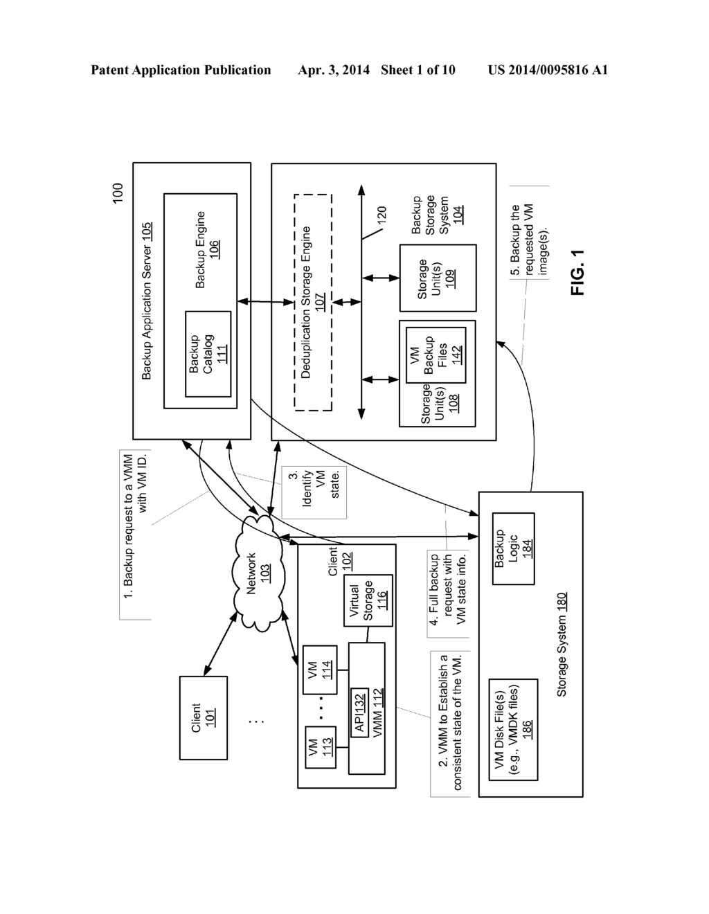 SYSTEM AND METHOD FOR FULL VIRTUAL MACHINE BACKUP USING STORAGE SYSTEM     FUNCTIONALITY - diagram, schematic, and image 02