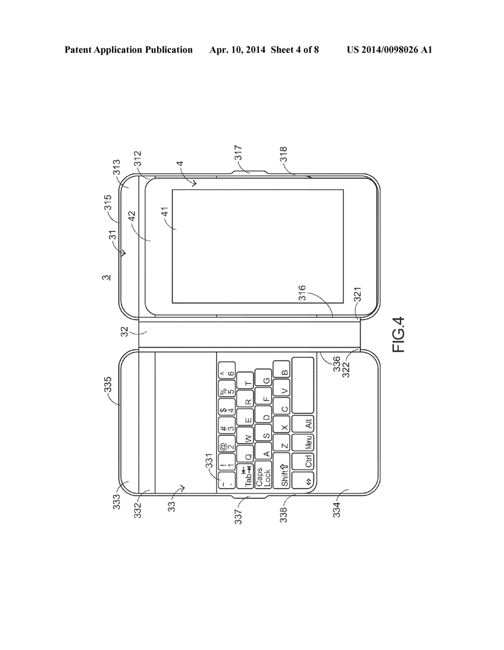 KEYBOARD DEVICE FOR SMALL SIZE TABLET PERSONAL COMPUTER - diagram, schematic, and image 05