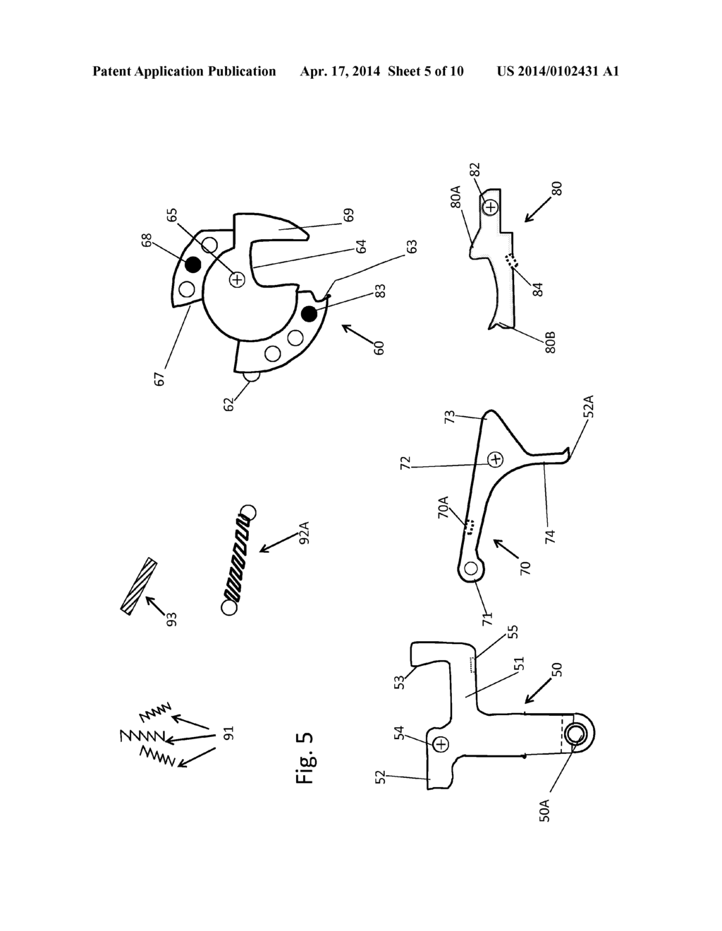 rotary cam release trigger device for a crossbow diagram Archery Diagram rotary cam release trigger device for a crossbow diagram schematic and image 06