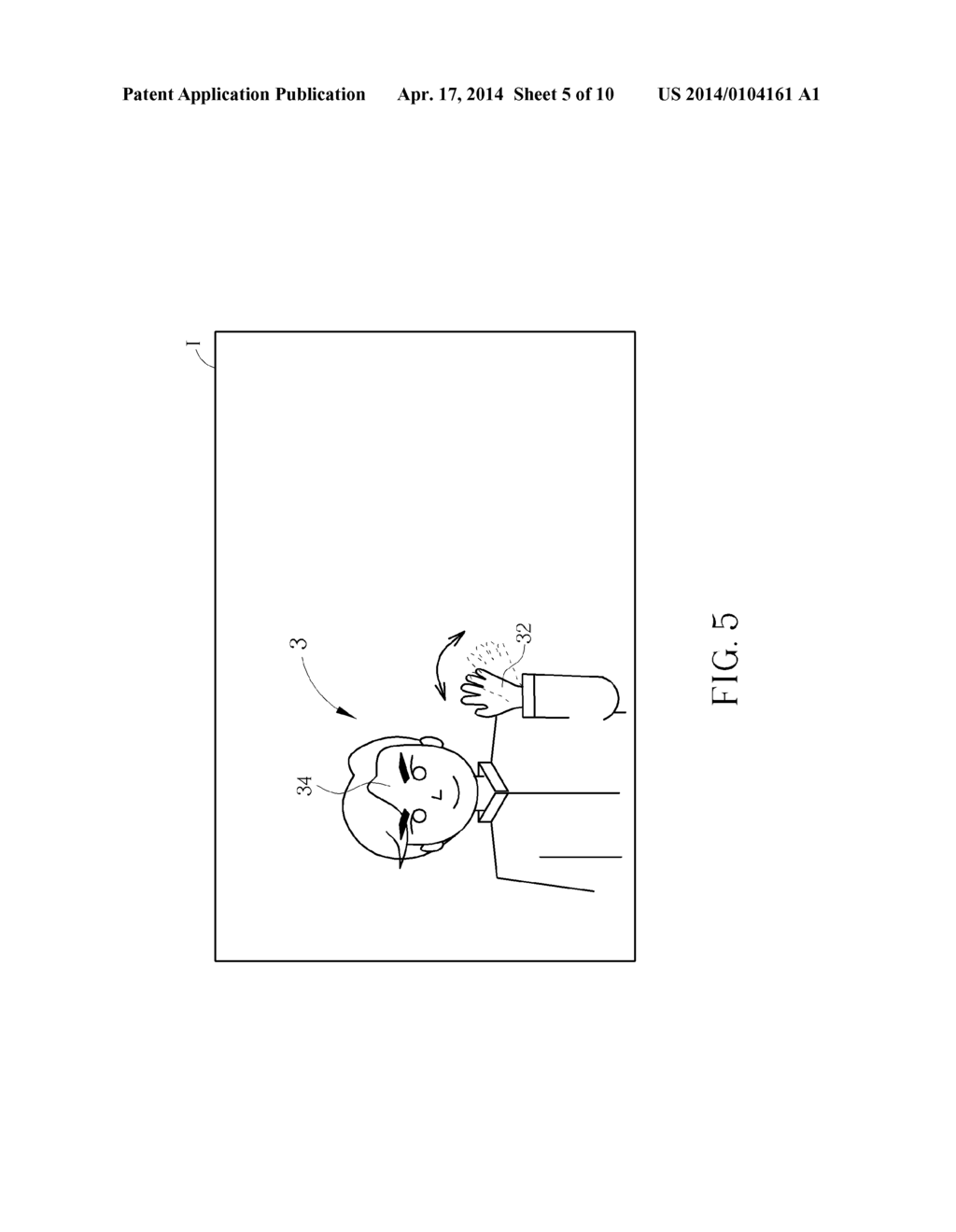 GESTURE CONTROL DEVICE AND METHOD FOR SETTING AND CANCELLING GESTURE     OPERATING REGION IN GESTURE CONTROL DEVICE - diagram, schematic, and image 06