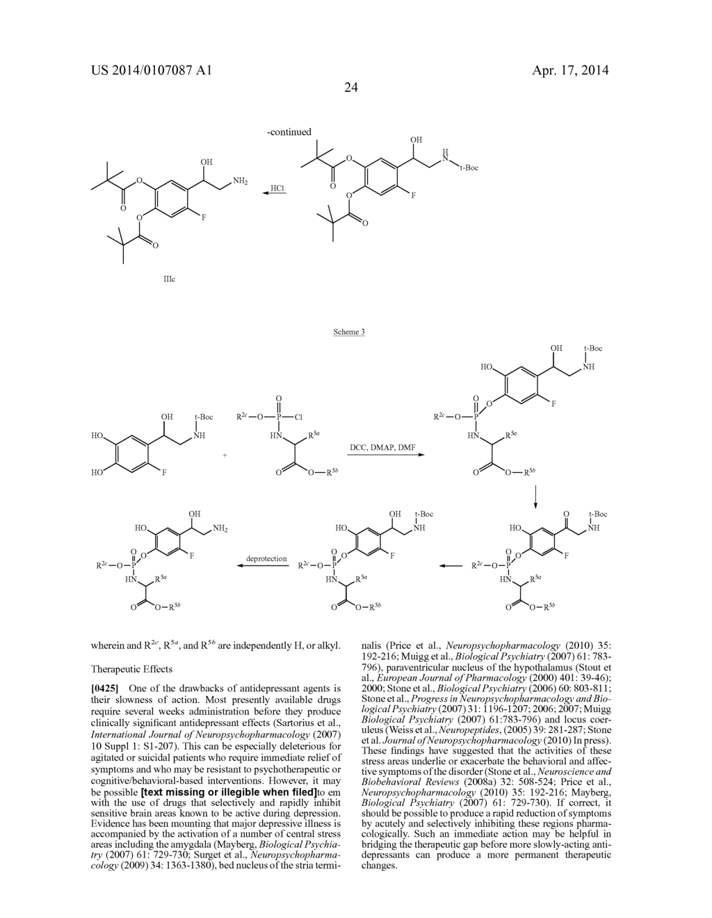 Methods, Compounds and Pharmaceutical Compositions for Treating Anxiety     and Mood Disorders - diagram, schematic, and image 40
