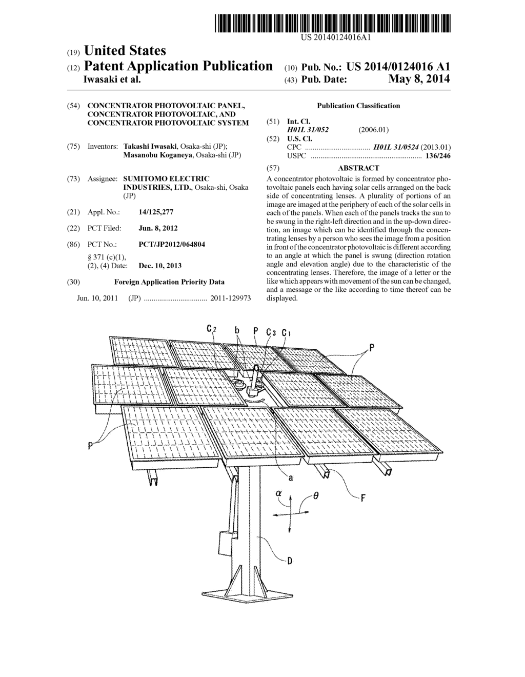 CONCENTRATOR PHOTOVOLTAIC PANEL, CONCENTRATOR PHOTOVOLTAIC, AND ...