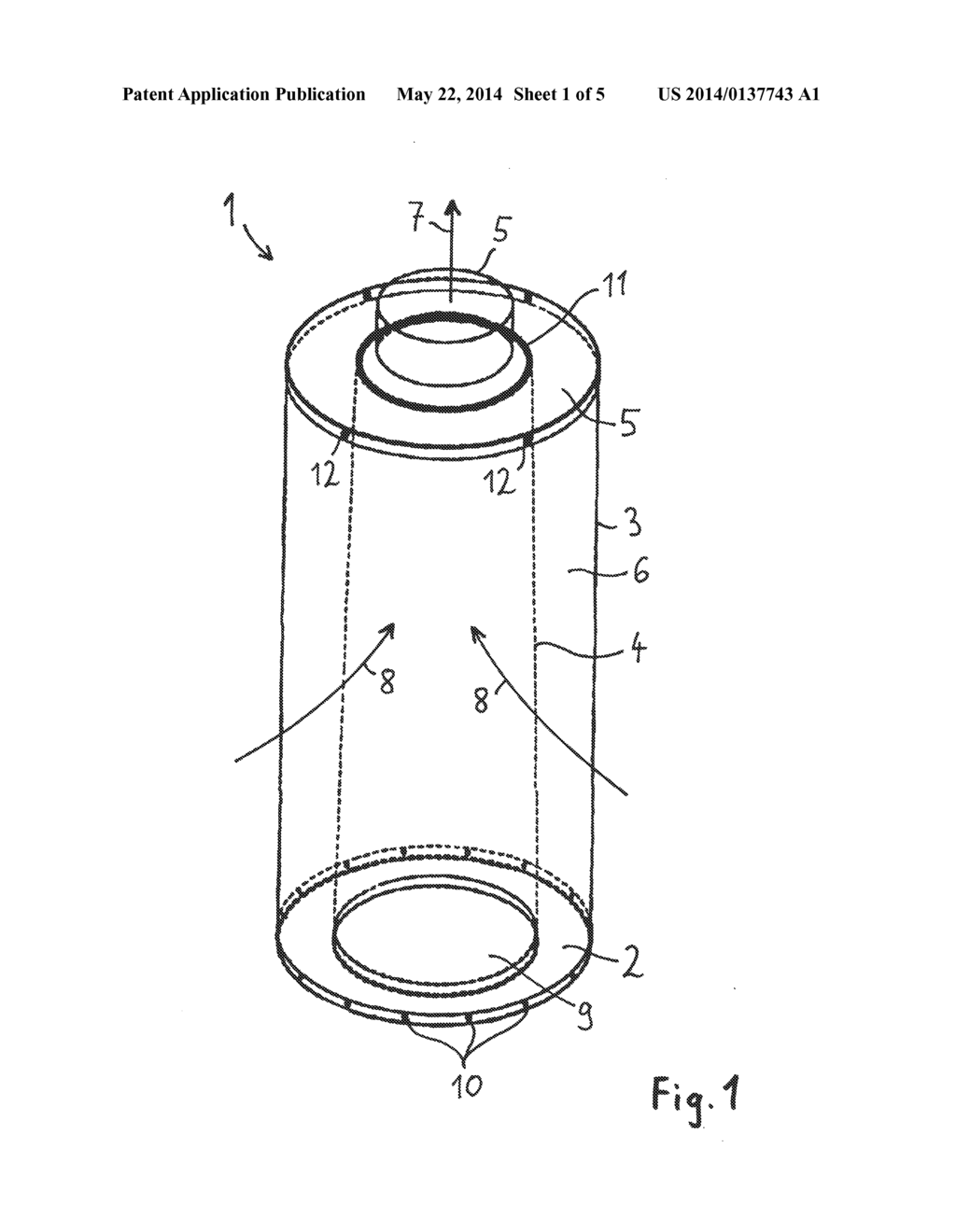 ACTIVATED CARBON AIR FILTER HAVING A CONICAL INNER CAGE - diagram, schematic,  and image 02