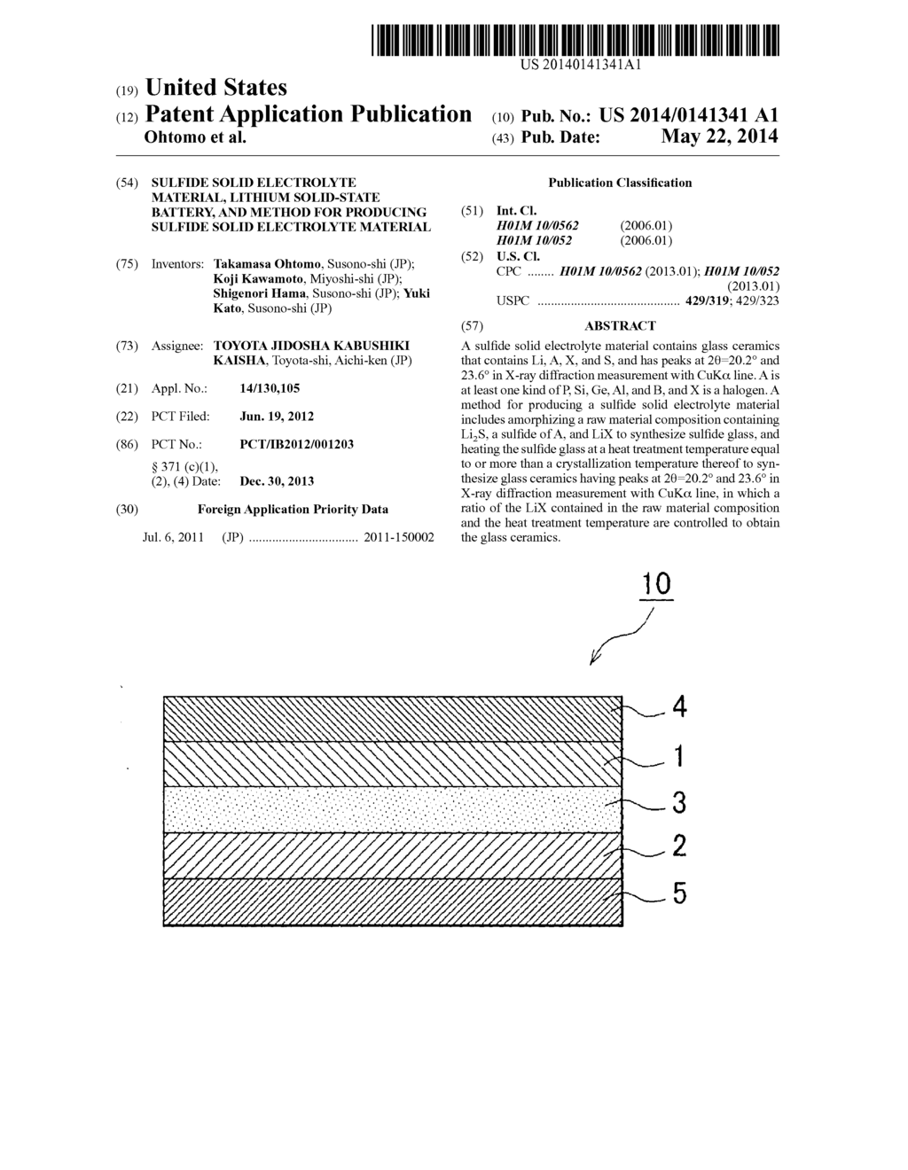 SULFIDE SOLID ELECTROLYTE MATERIAL, LITHIUM SOLID-STATE