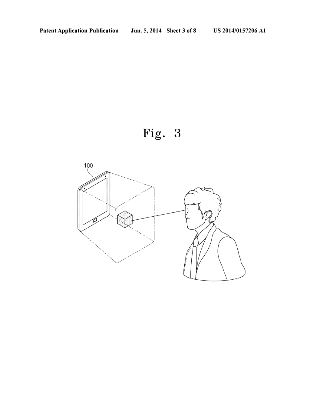 MOBILE DEVICE PROVIDING 3D INTERFACE AND GESTURE CONTROLLING METHOD     THEREOF - diagram, schematic, and image 04