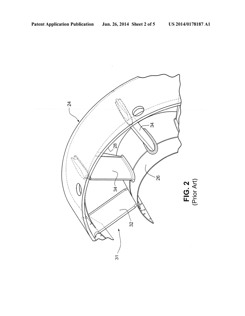 STAGGERED DOUBLE ROW, SLOTTED AIRFOIL DESIGN FOR GAS TURBINE