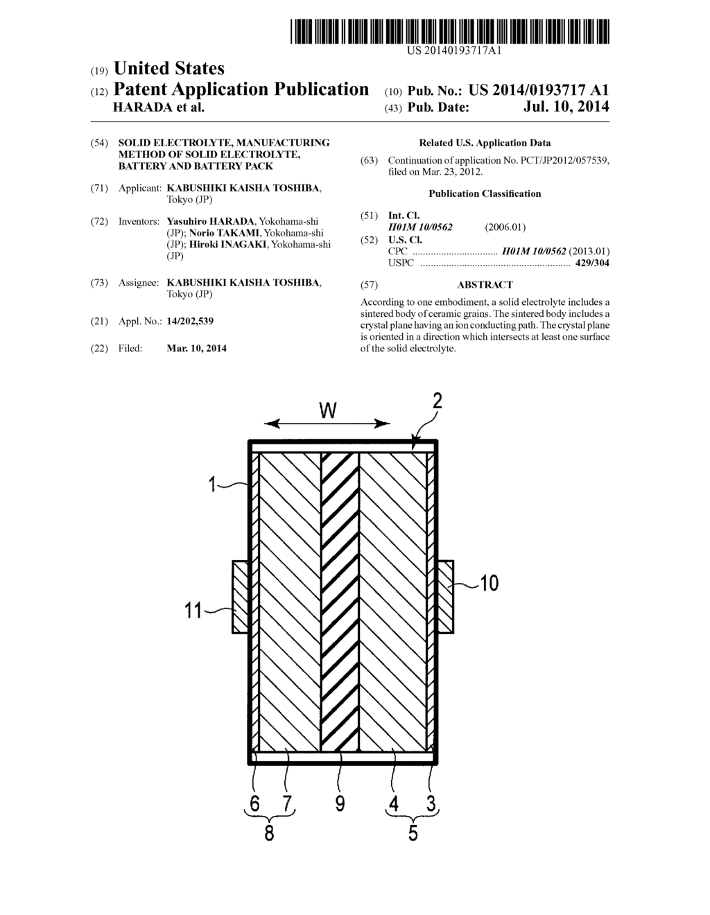 SOLID ELECTROLYTE, MANUFACTURING METHOD OF SOLID ELECTROLYTE