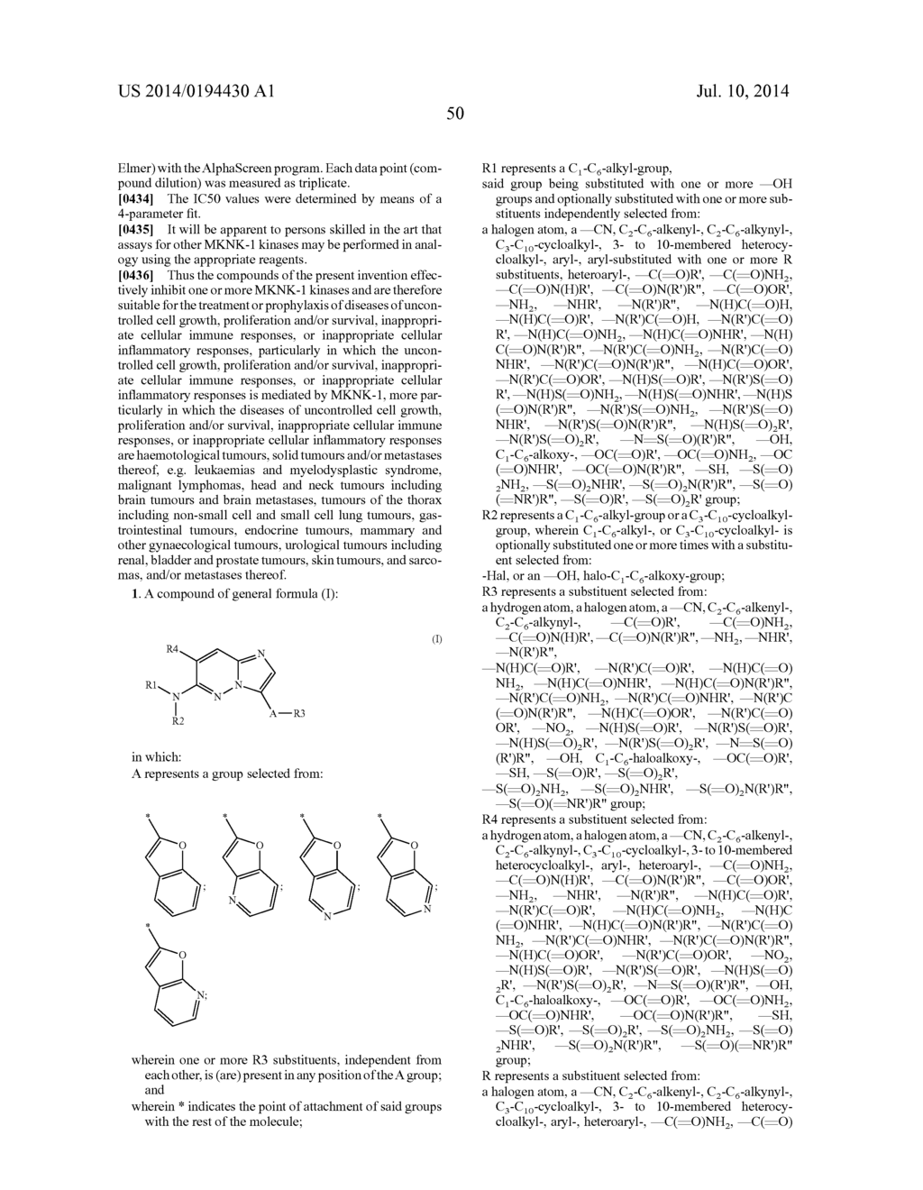SUBSTITUTED AMINOIMIDAZOPYRIDAZINES - diagram, schematic, and image 51