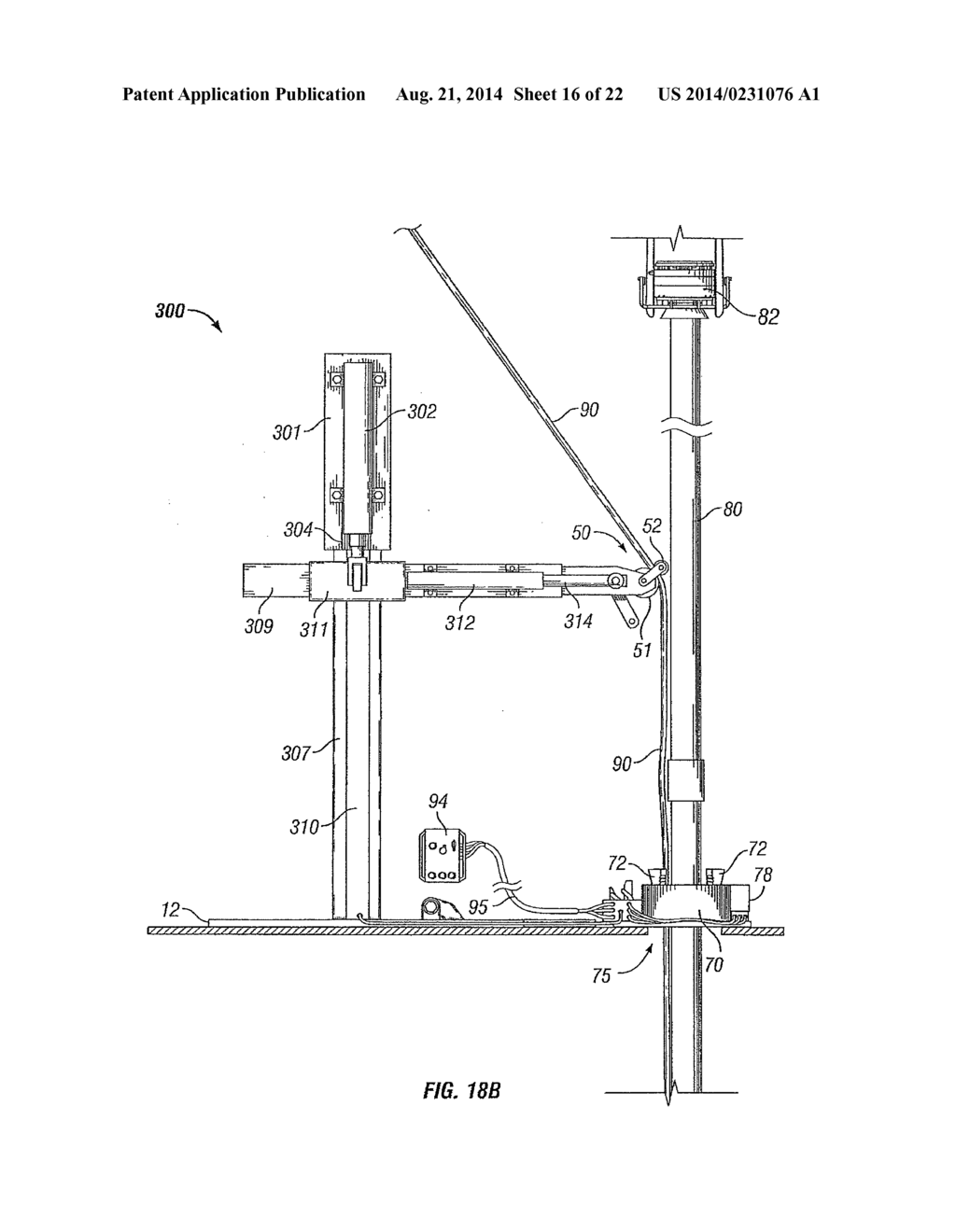 METHOD AND APPARATUS TO POSITION AND PROTECT CONTROL LINES BEING COUPLED     TO A PIPE STRING ON A RIG - diagram, schematic, and image 17