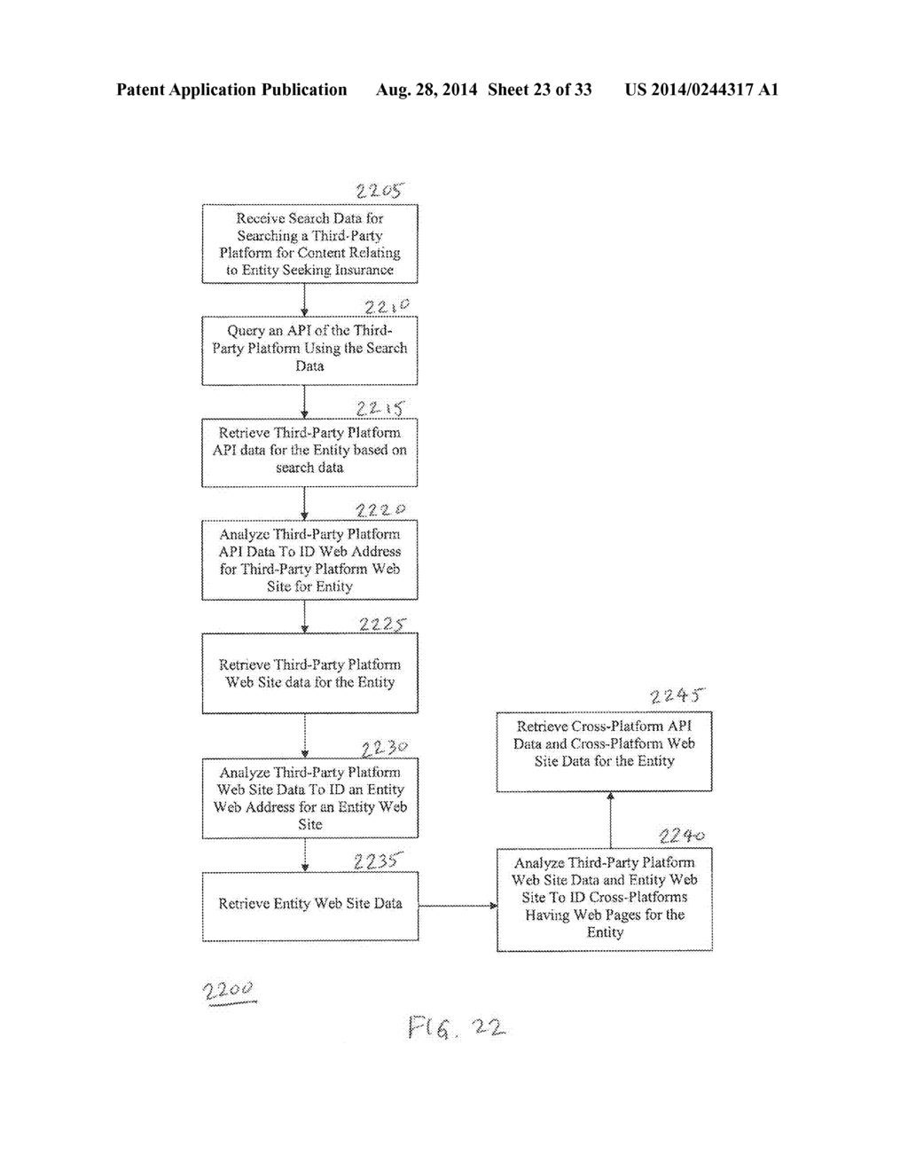 Computerized System and Method for Pre-Filling of Insurance Data Using     Third Party Sources - diagram, schematic, and image 24
