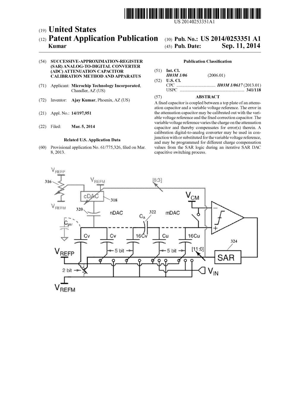 Successive Approximation Register Sar Analog To Digital Converter Approximate Adc Circuit Diagram Attenuation Capacitor Calibration Method And Apparatus Schematic