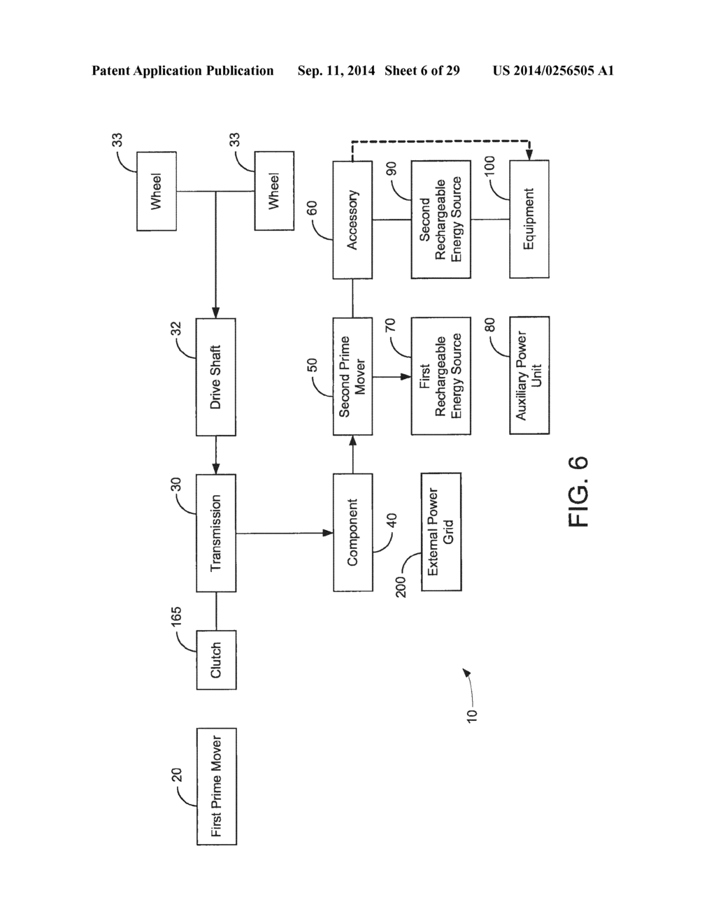 HYBRID VEHICLE DRIVE SYSTEM AND METHOD AND IDLE REDUCTION SYSTEM AND     METHOD - diagram, schematic, and image 07