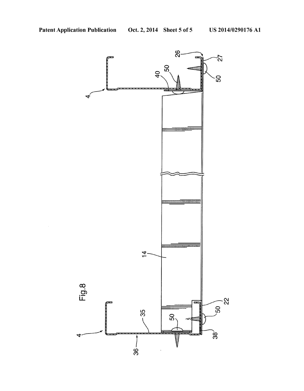 horizontal blocking member for use in a wall stud system diagram