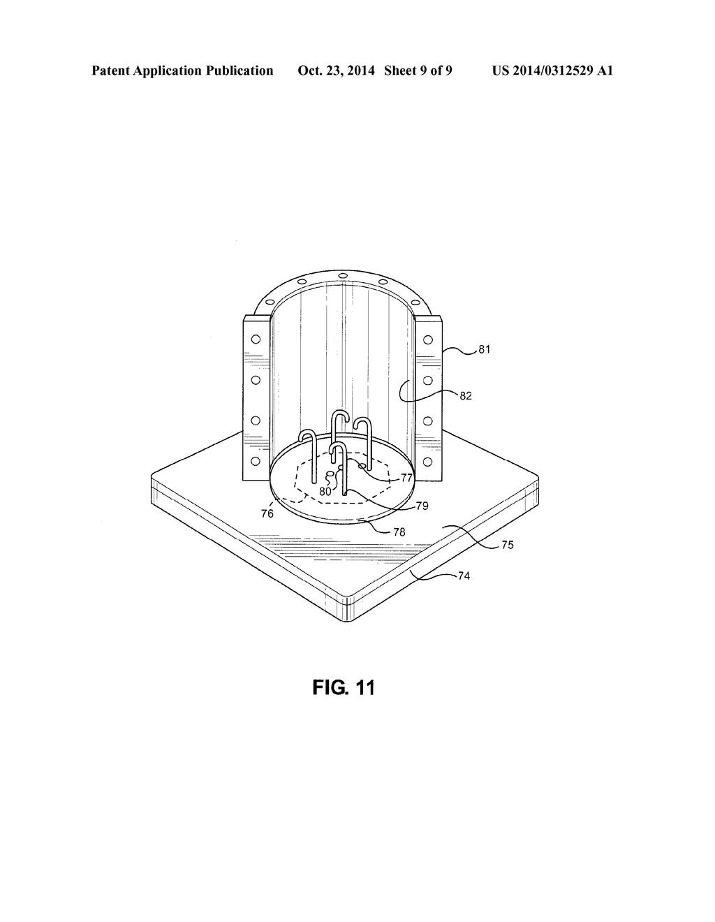 Form For Casting A concrete Light Pole Base - diagram