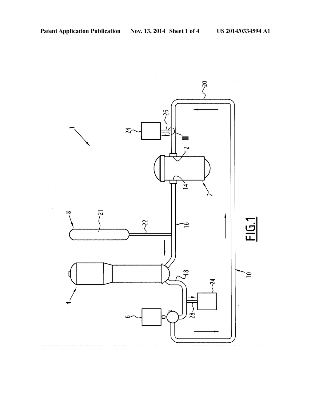 Nuclear reactor primary circuit with a branch equipped with a nuclear reactor primary circuit with a branch equipped with a thermal sleeve diagram schematic and image 02 ccuart Choice Image