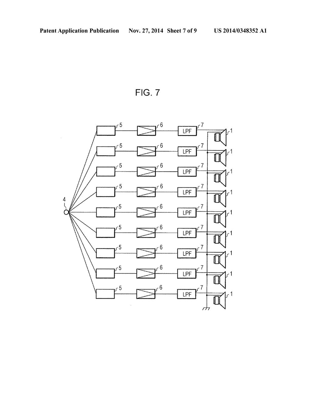line array diagram