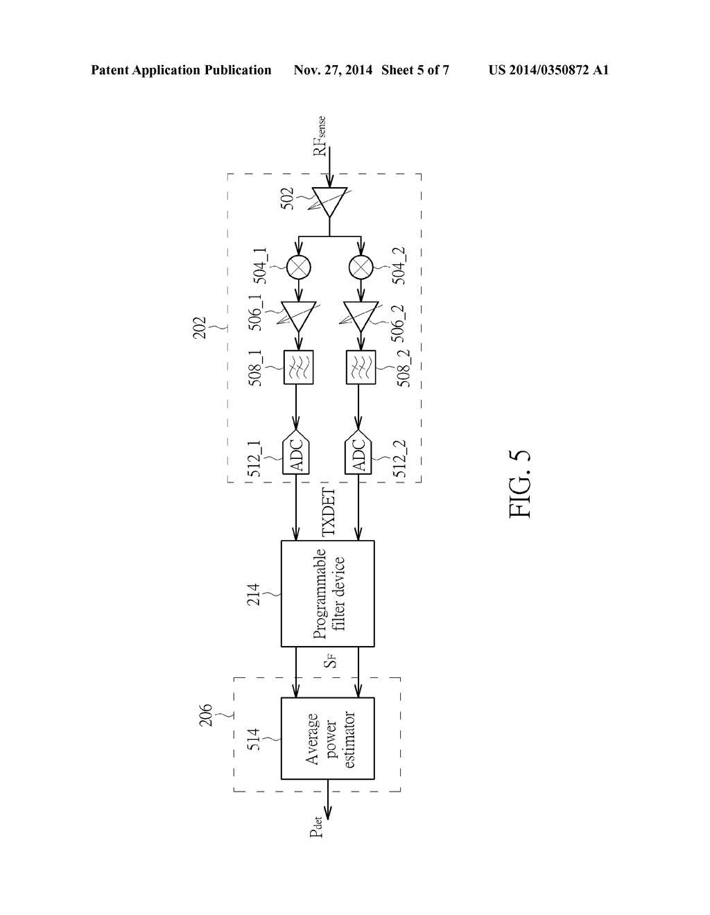 TRANSMIT POWER MEASUREMENT APPARATUS HAVING PROGRAMMABLE FILTER DEVICE     THAT IS SET AT LEAST BASED ON FREQUENCY RESPONSE OF TRANSMIT POWER     DETECTION PATH AND RELATED TRANSMIT POWER MEASUREMENT METHOD THEREOF - diagram, schematic, and image 06