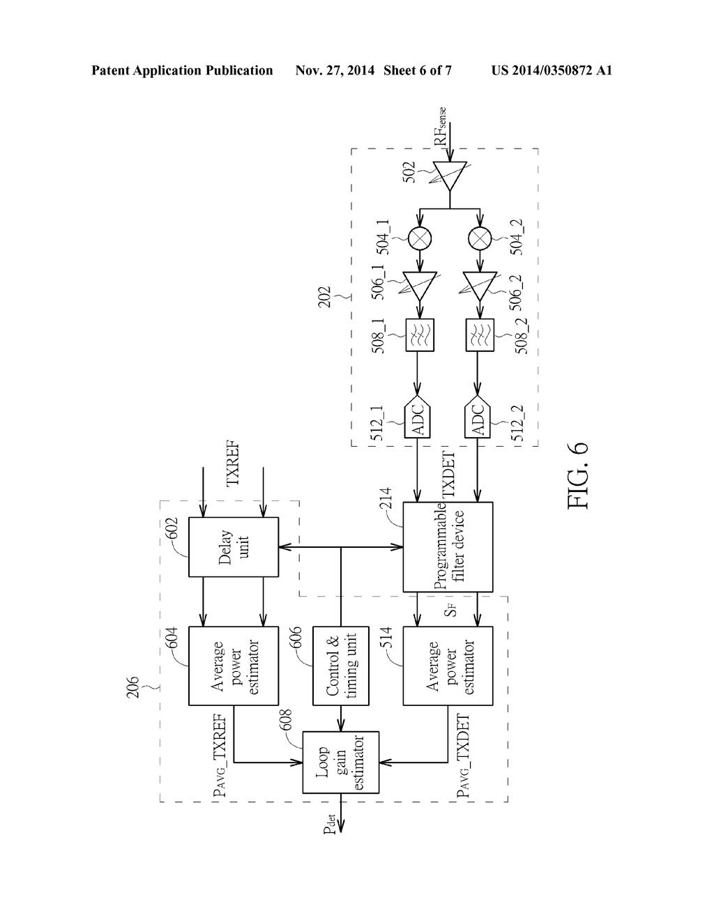 TRANSMIT POWER MEASUREMENT APPARATUS HAVING PROGRAMMABLE FILTER DEVICE     THAT IS SET AT LEAST BASED ON FREQUENCY RESPONSE OF TRANSMIT POWER     DETECTION PATH AND RELATED TRANSMIT POWER MEASUREMENT METHOD THEREOF - diagram, schematic, and image 07