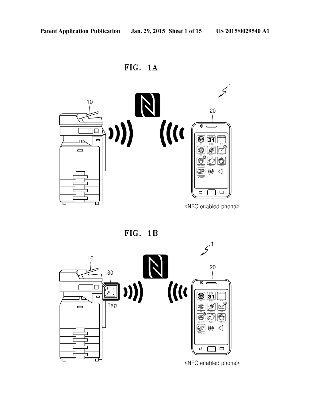 IMAGE FORMING APPARATUS AND MOBILE DEVICE FOR FORMING WIRELESS     CONFIGURATION BY USING NEAR FIELD COMMUNICATION (NFC) - diagram, schematic, and image 02