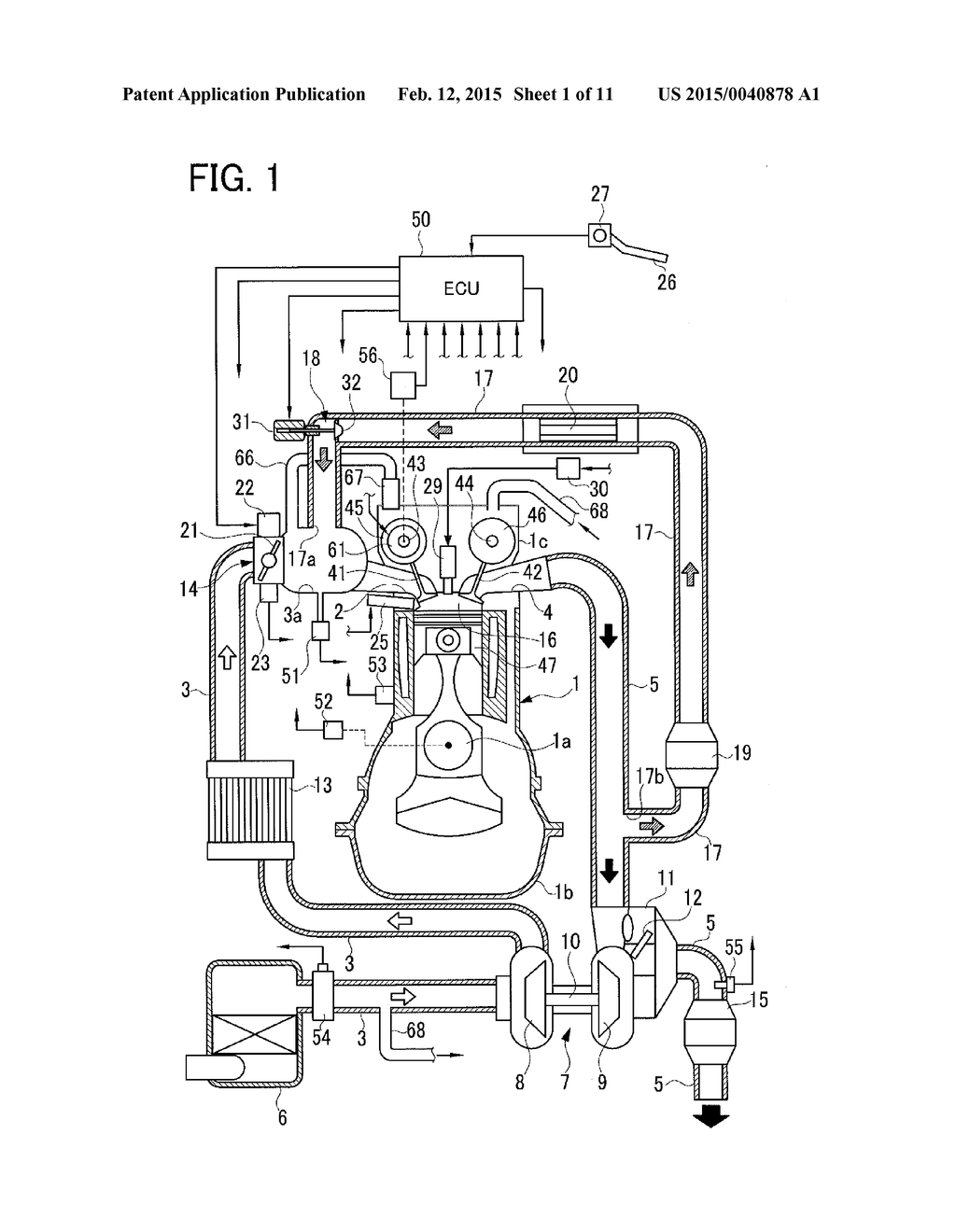 FAILURE DETECTION DEVICE FOR BLOW-BY GAS RECIRCULATION APPARATUS OF