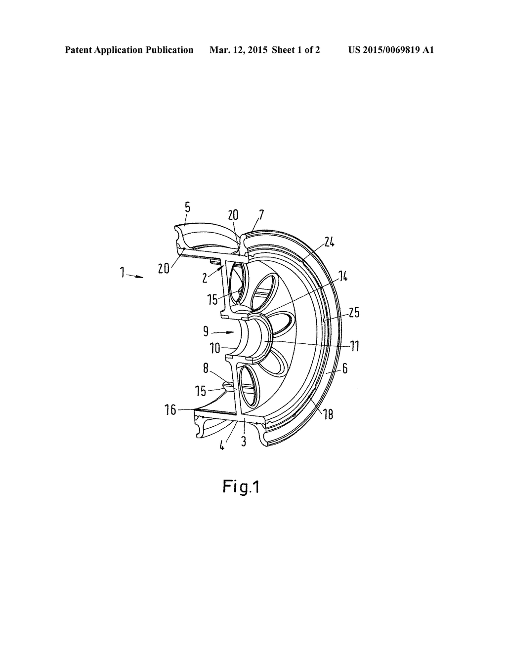 Wheel Hub In Particular An Aircraft Diagram Schematic And Image 02