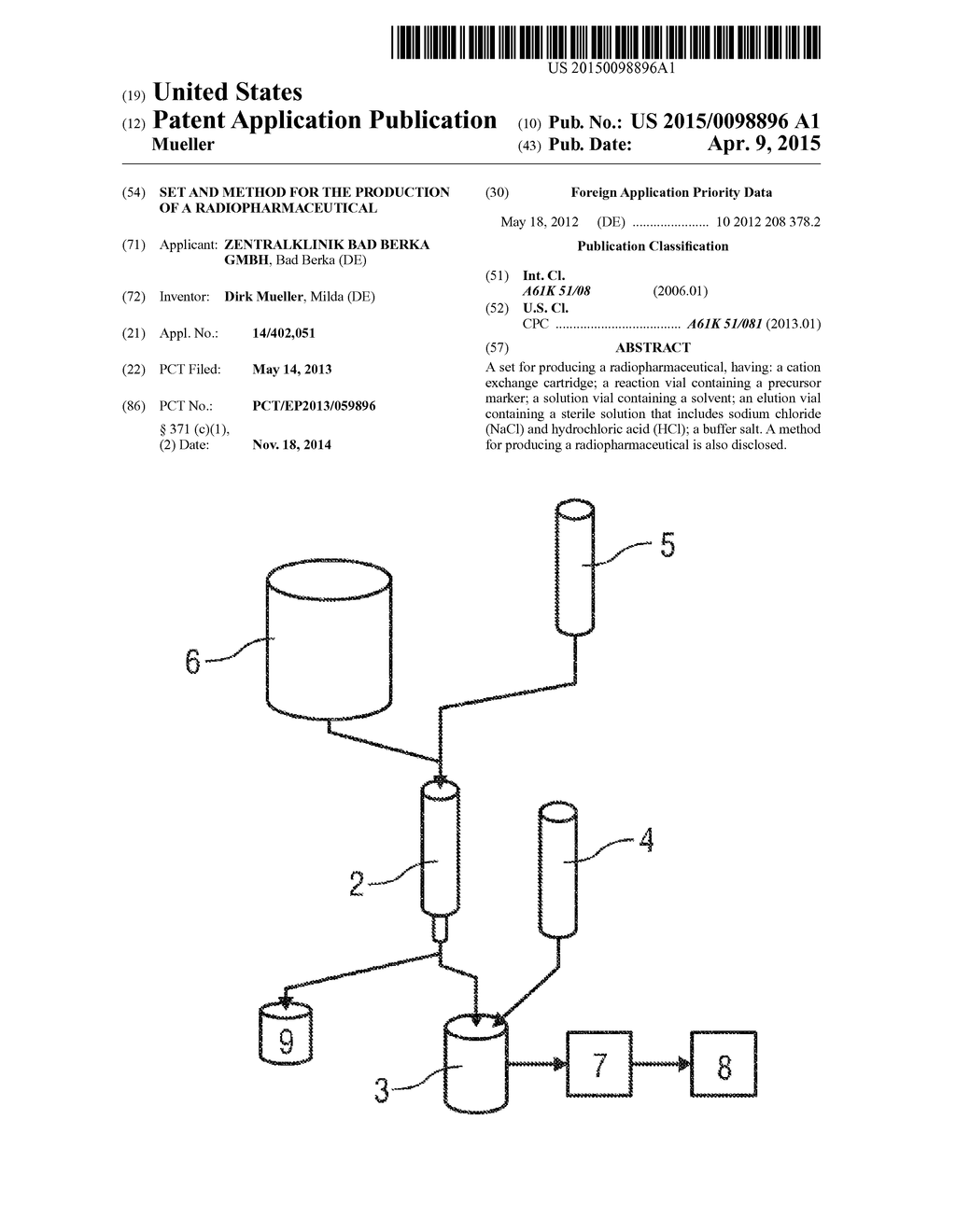 Set and method for the production of a radiopharmaceutical diagram set and method for the production of a radiopharmaceutical diagram schematic and image 01 ccuart Choice Image