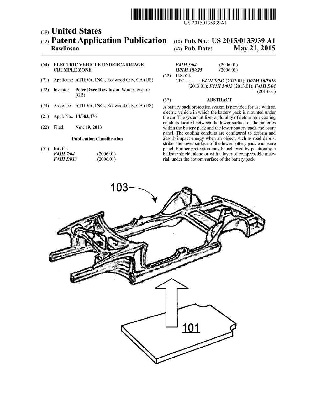 Electric Vehicle Undercarriage Crumple Zone - diagram, schematic, and image  01