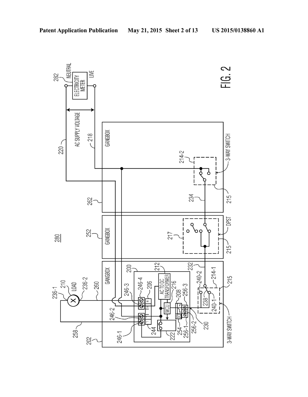 ELECTRICAL DEVICE FOR USE WITH A MULTIWAY SWITCH SYSTEM - diagram ...