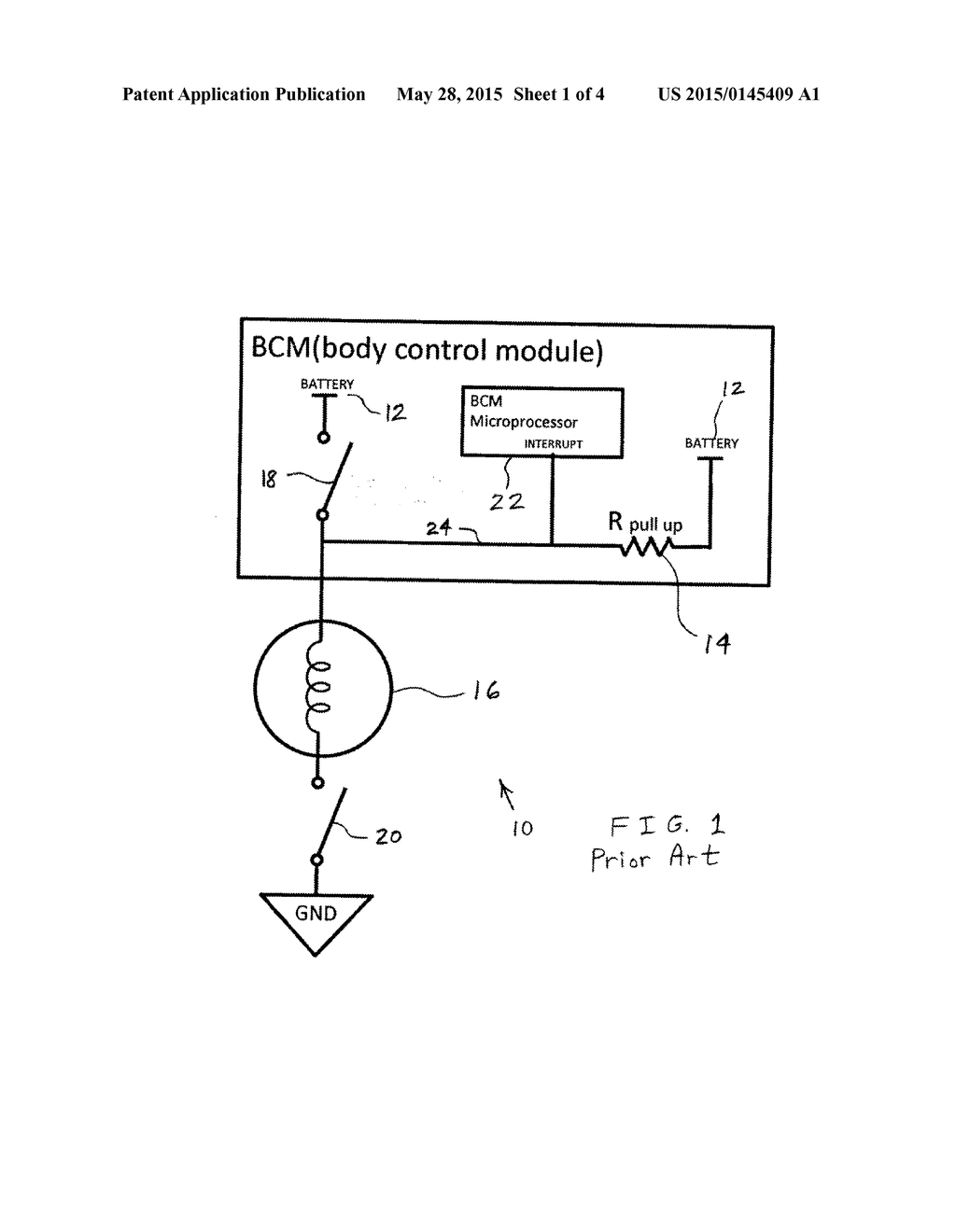 automotive led bleed resistor circuit and body control module interrupt  wakeup circuit - diagram, schematic, and image 02