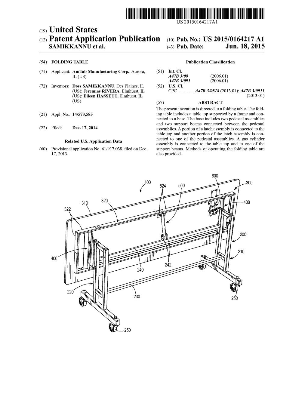 FOLDING TABLE - diagram, schematic, and image 01