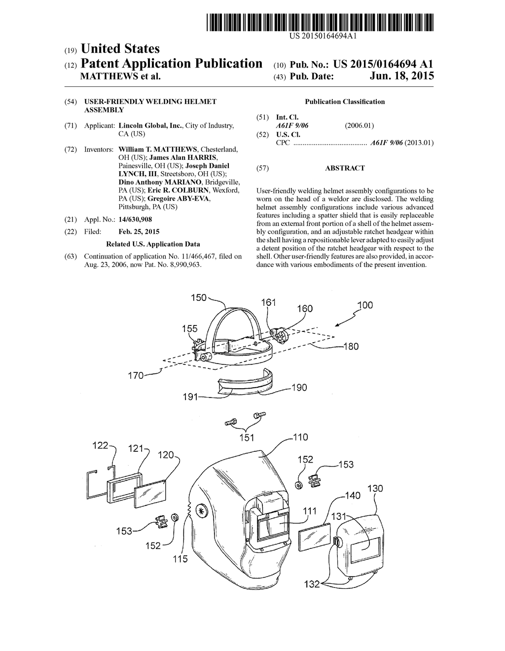 USER-FRIENDLY WELDING HELMET ASSEMBLY - diagram, schematic, and image 01www.patentsencyclopedia.com