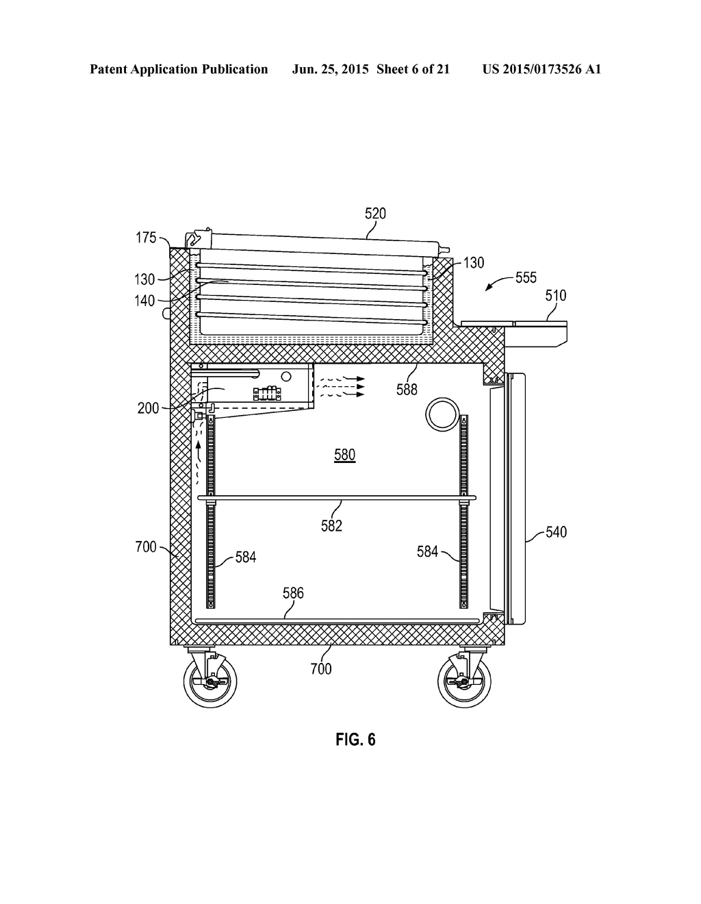 20150173526_07 glycol pan chiller systems with integrated stove top diagram