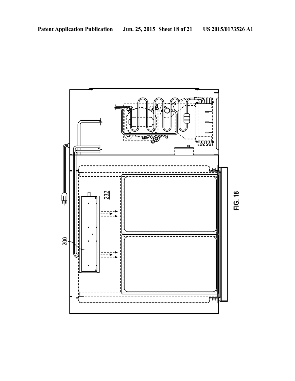 20150173526_19 glycol pan chiller systems with integrated stove top diagram