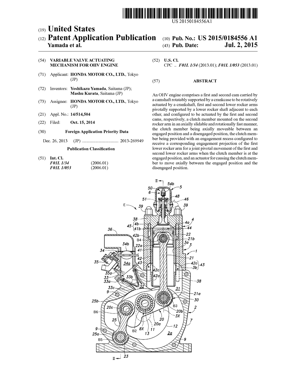 VARIABLE VALVE ACTUATING MECHANISM FOR OHV ENGINE - diagram, schematic, and  image 01