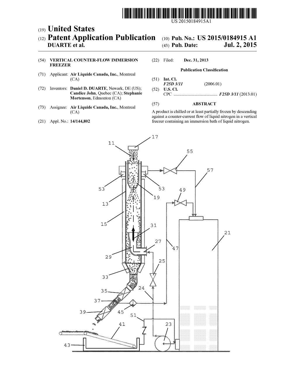 Vertical counter flow immersion freezer diagram schematic and vertical counter flow immersion freezer diagram schematic and image 01 ccuart Gallery