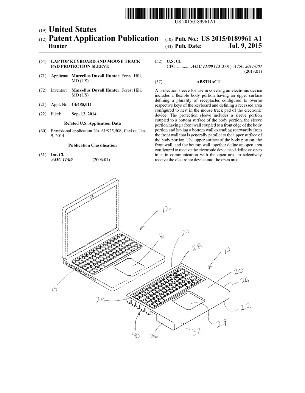 Laptop Keyboard And Mouse Track Pad Protection Sleeve Diagram Schematic Image 01