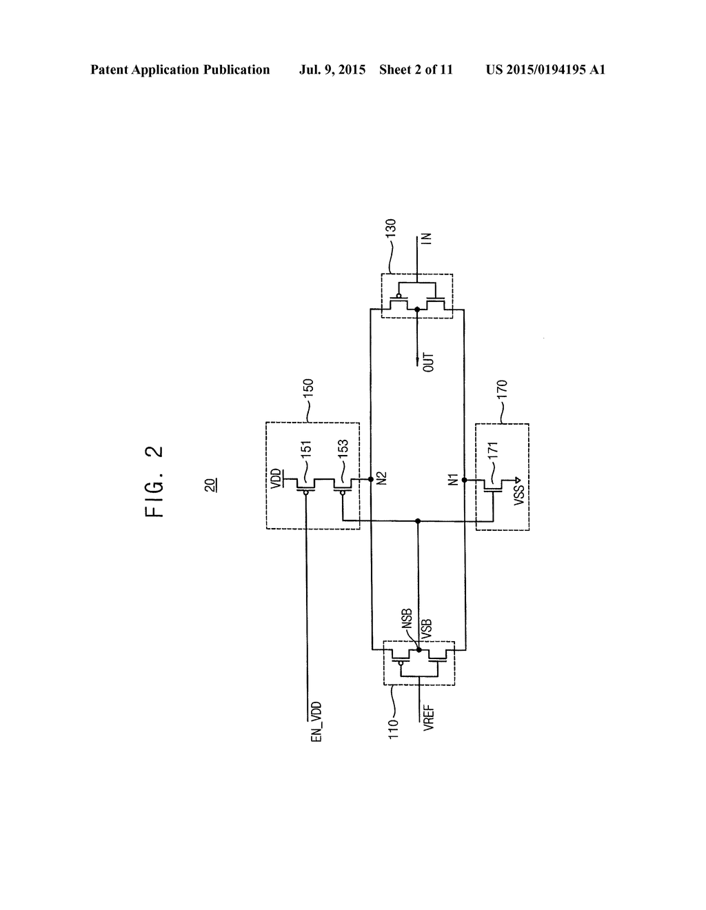 Self Bias Buffer Circuit And Memory Device Including The Same Schematic Diagram Image 03
