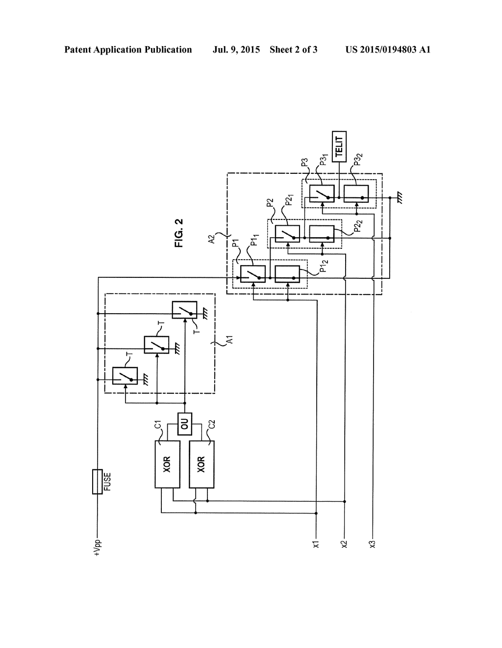 Electrical Circuit For Cutting Off An Electric Power Supply Draw A Logic Diagram Comprising Transistors And Fuses Having Redundant Schematic Image 03