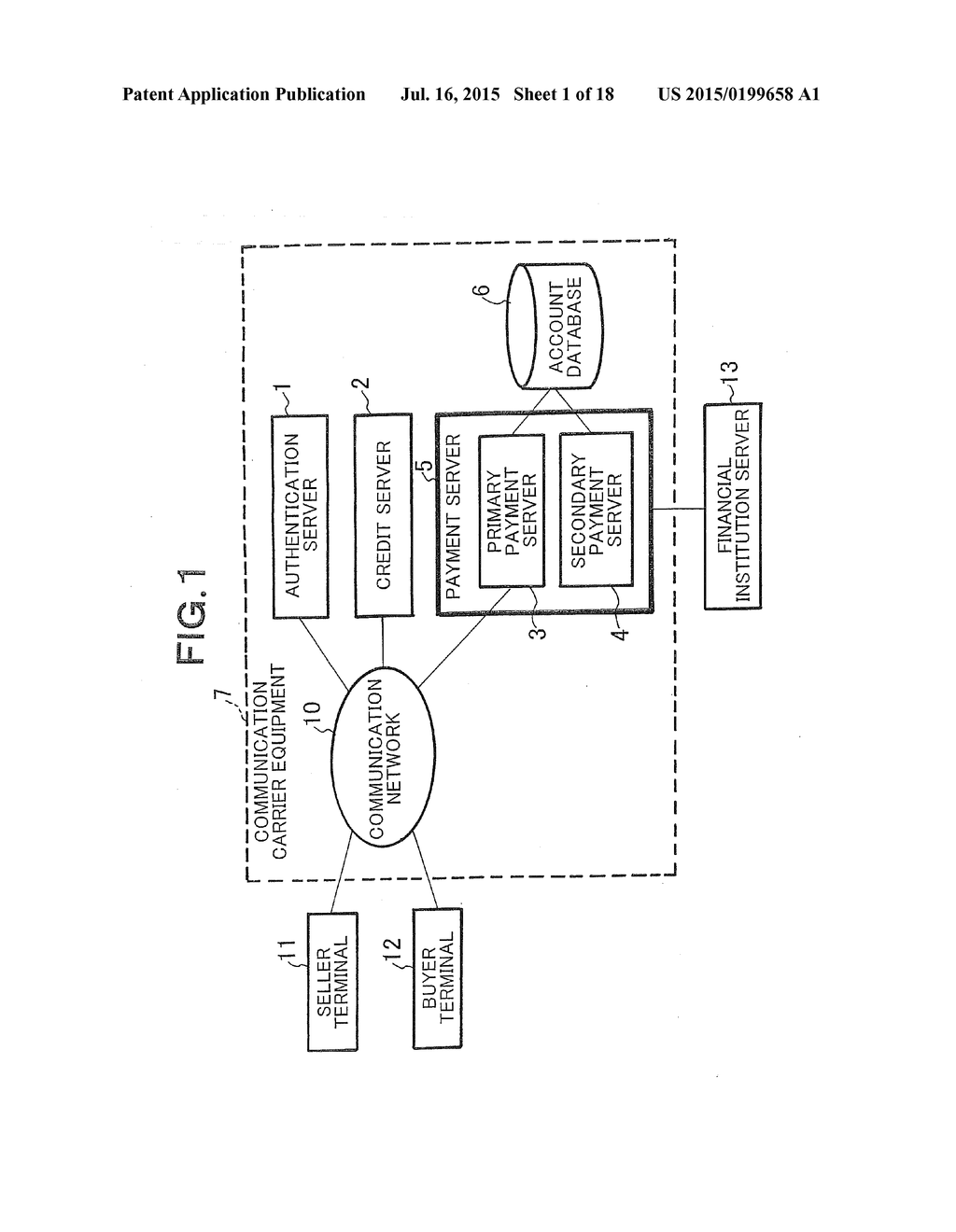 SYSTEM AND METHOD FOR ELECTRONIC PAYMENT, AND SERVER, COMMUNICATION     TERMINAL AND PROGRAM THEREFOR - diagram, schematic, and image 02