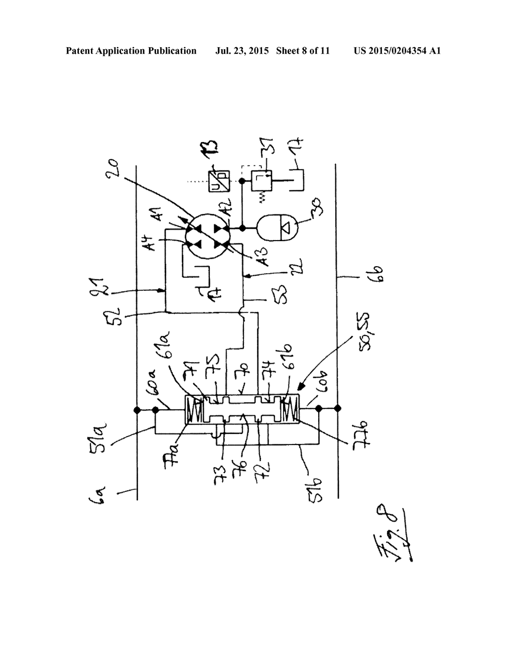 hydrostatic drive system in a closed circuit - diagram, schematic, and  image 09