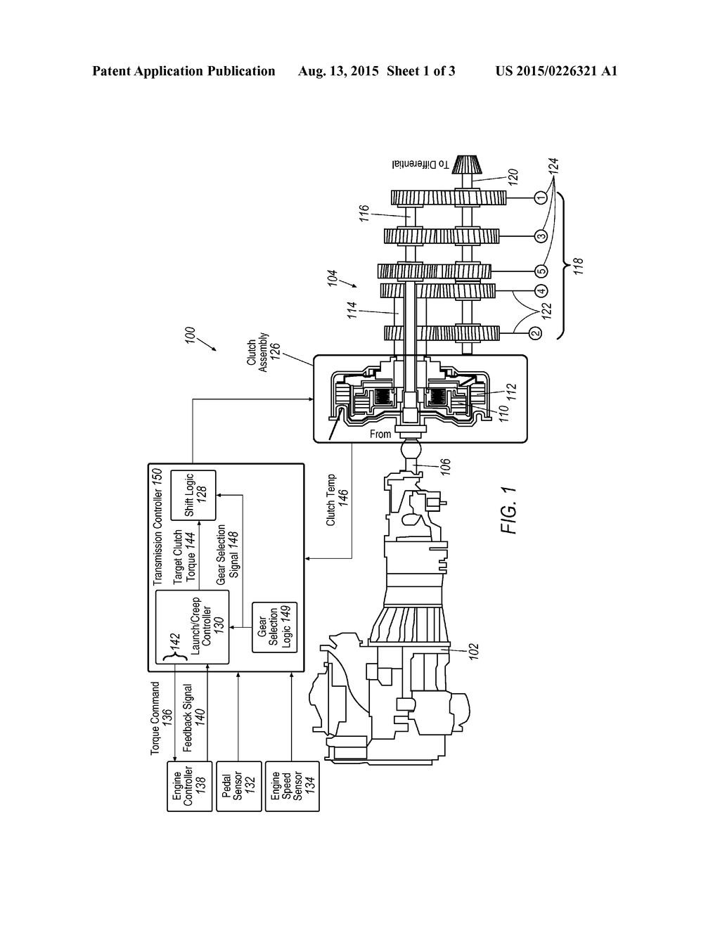 full clutch slip power shift of a dual clutch transmission - diagram,  schematic, and image 02