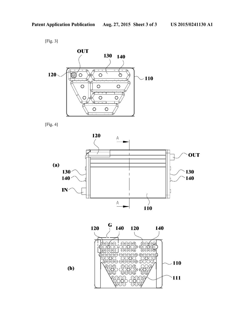 20150241130_04 condensation heat exchanger having dummy pipe diagram, schematic