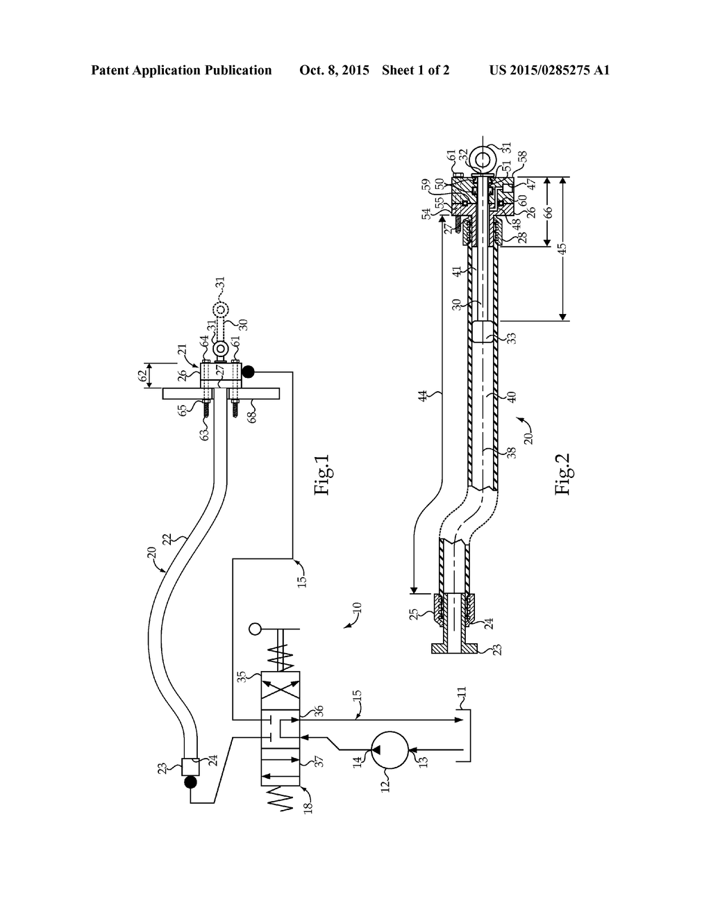 HYDRAULIC LINEAR ACTUATOR INTEGRATED INTO A FLEXIBLE HOSE