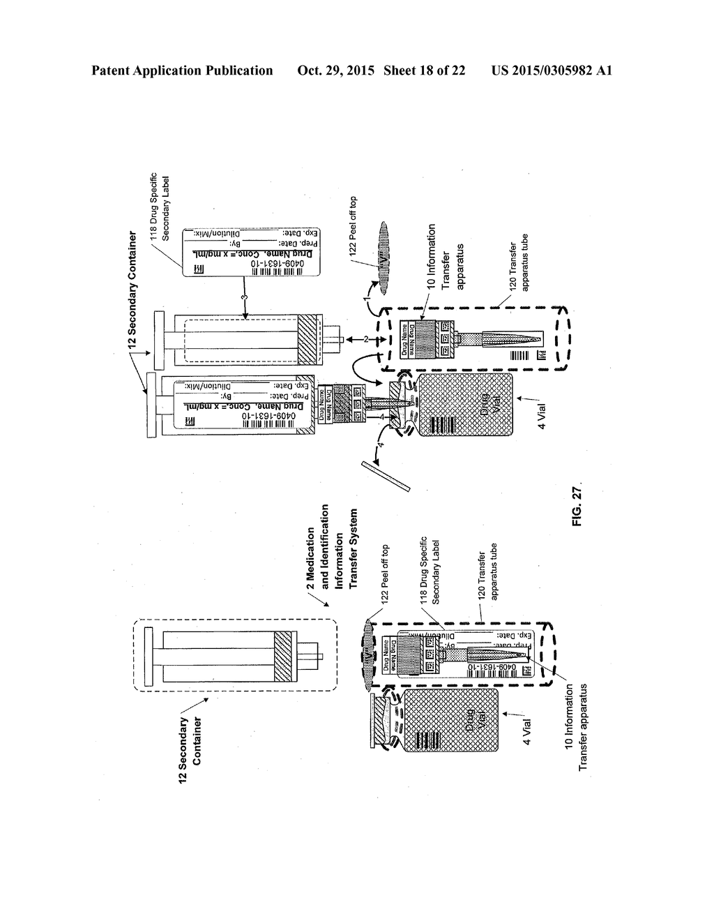 Medication and Identification Information Transfer Apparatus - diagram, schematic, and image 19