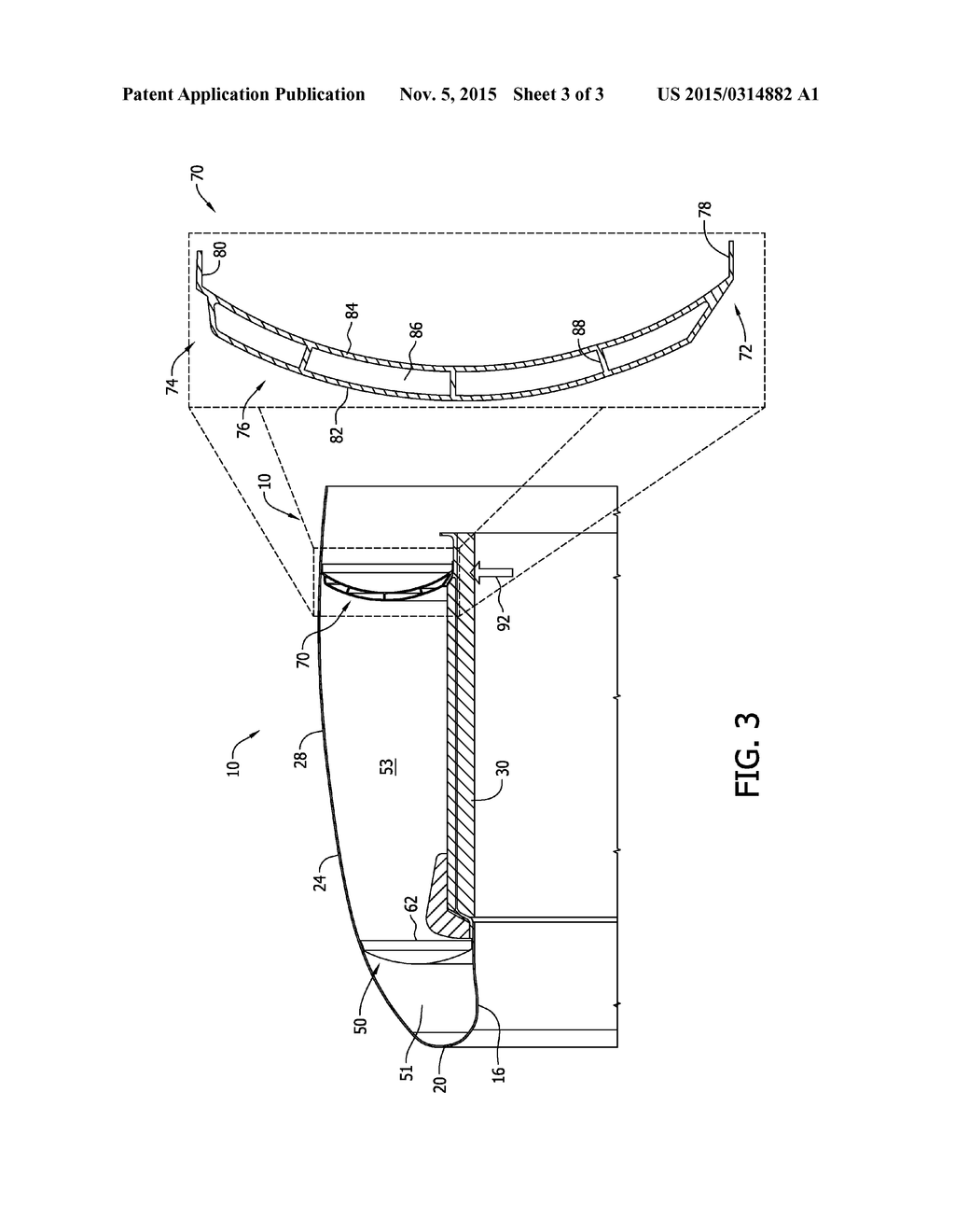 aircraft engine nacelle bulkheads and methods of assembling the same -  diagram, schematic, and image 04